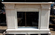 Marble fireplace Travertine Light