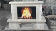 Marble fireplace Fiore Beige