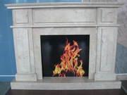 Marble fireplace Crema Nova